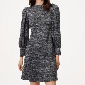 Loft Marled Swing Dress, Black Size XL